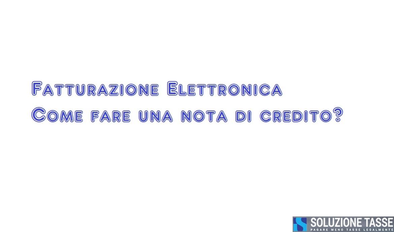 nota credito fattura elettronica